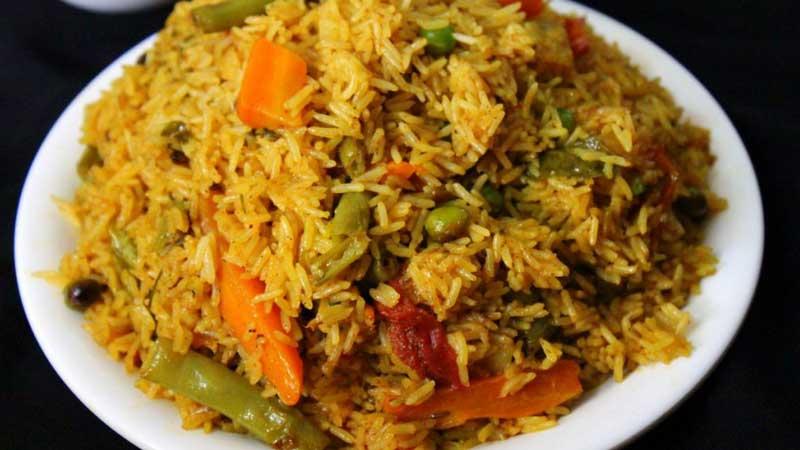 the maharaja caterers rice based menu